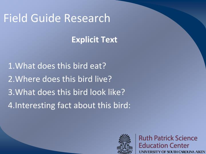 Field Guide Research