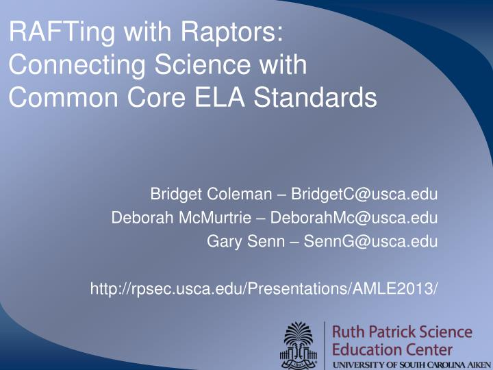 Rafting with raptors connecting science with common core ela standards