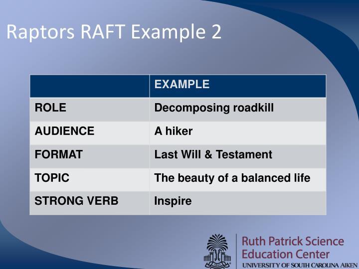 Raptors RAFT Example 2