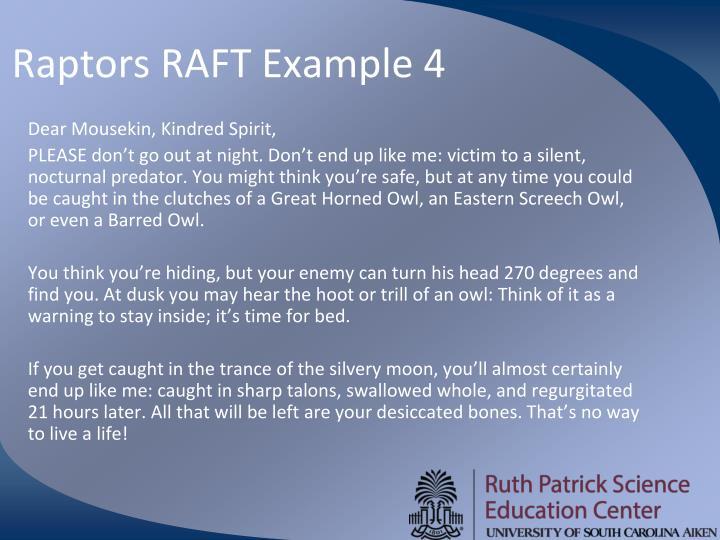 Raptors RAFT Example 4