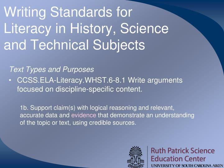Writing Standards for