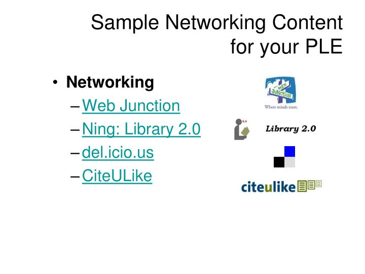Sample Networking Content