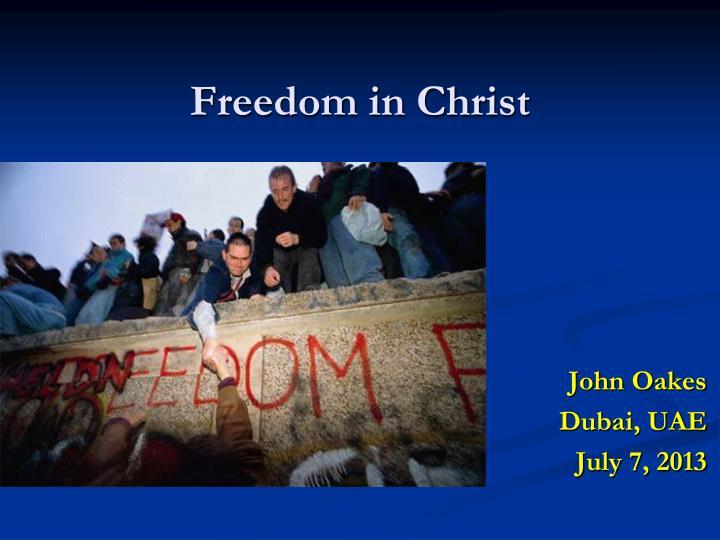 freedom in christ n.