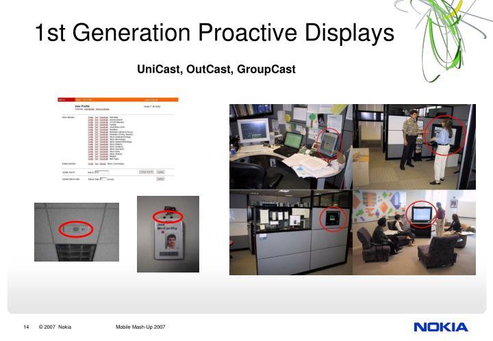 1st Generation Proactive Displays