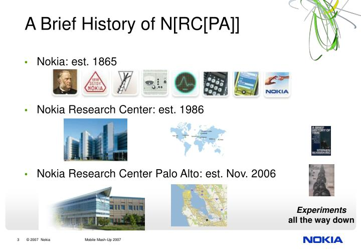 A brief history of n rc pa