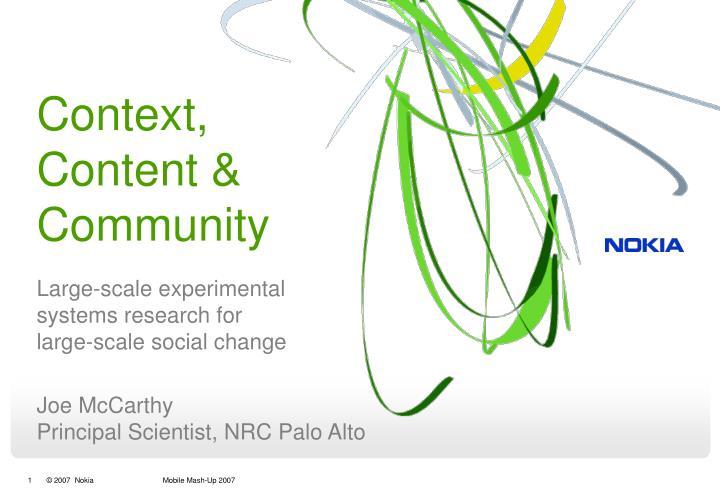Context content community