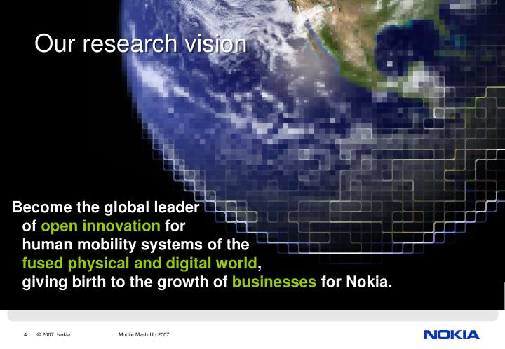 Become the global leader