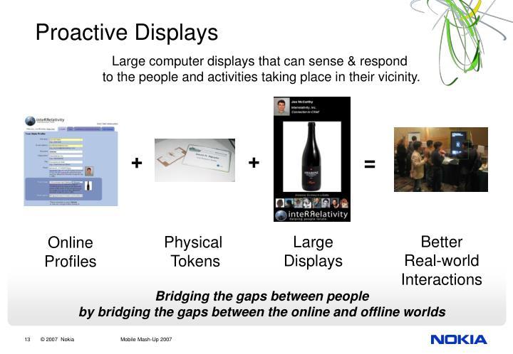 Proactive Displays