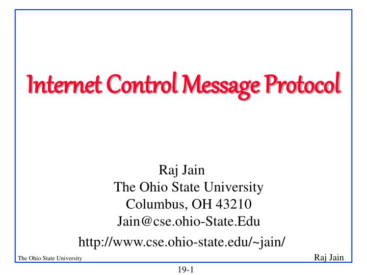 internet control message protocol n.