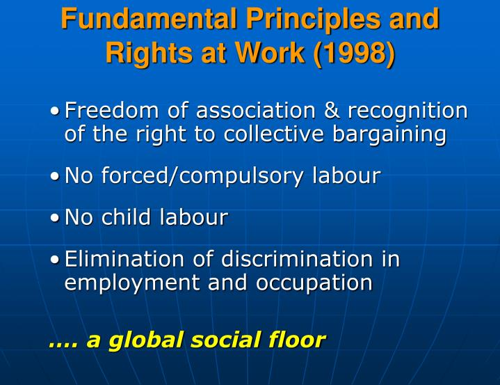 Fundamental Principles and Rights at Work (1998)