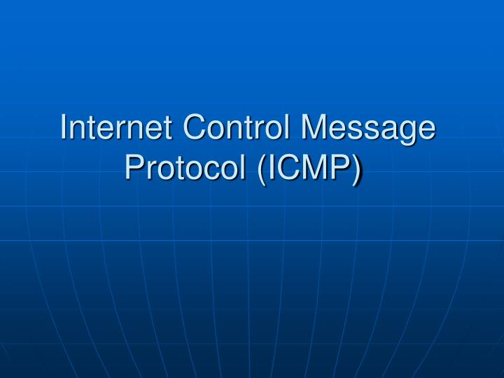 internet control message protocol icmp n.