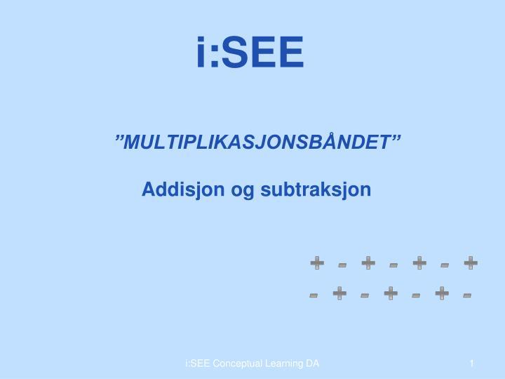 Multiplikasjonsb ndet addisjon og subtraksjon