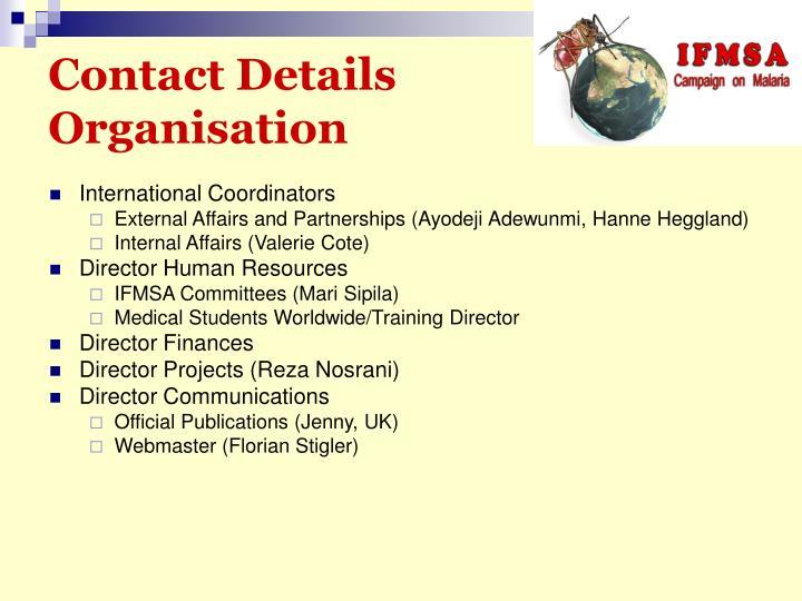 Contact Details Organisation