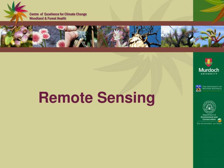 remote sensing n.