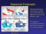 seasonal forecasts