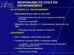 responsabilite civile en environnement