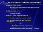 responsabilites en environnement