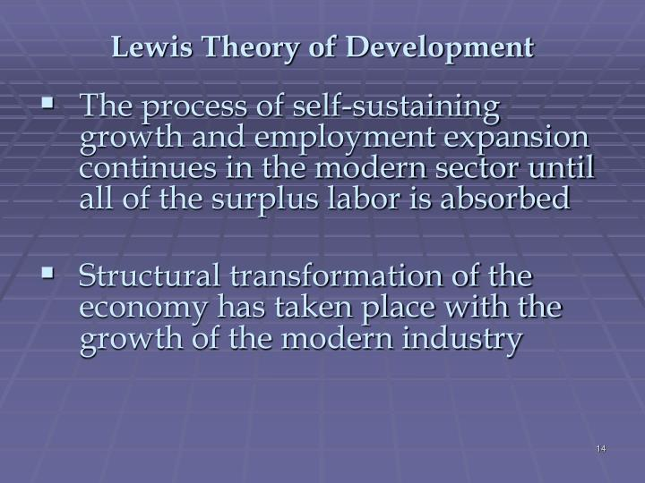 Lewis Theory of Development