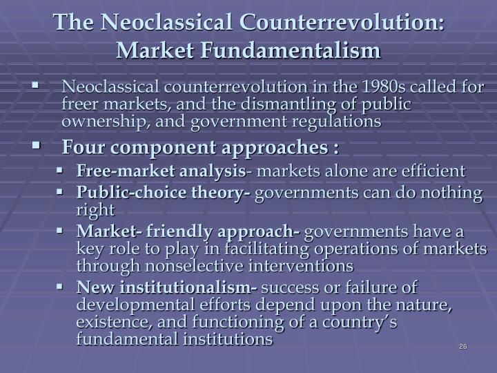 The Neoclassical Counterrevolution: Market Fundamentalism