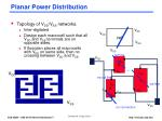 planar power distribution