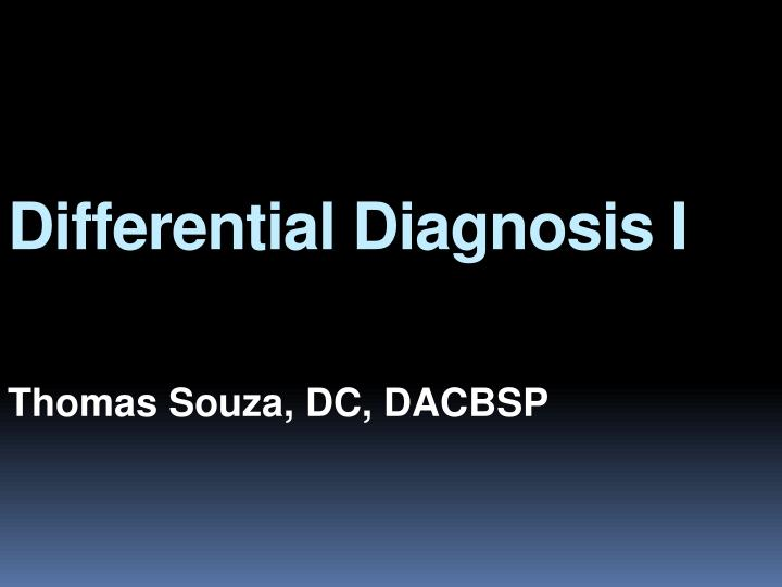 differential diagnosis i n.