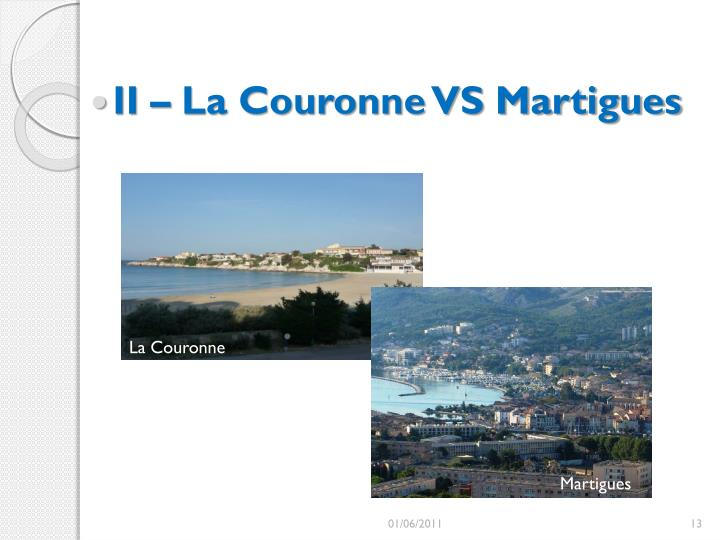 II – La Couronne VS Martigues