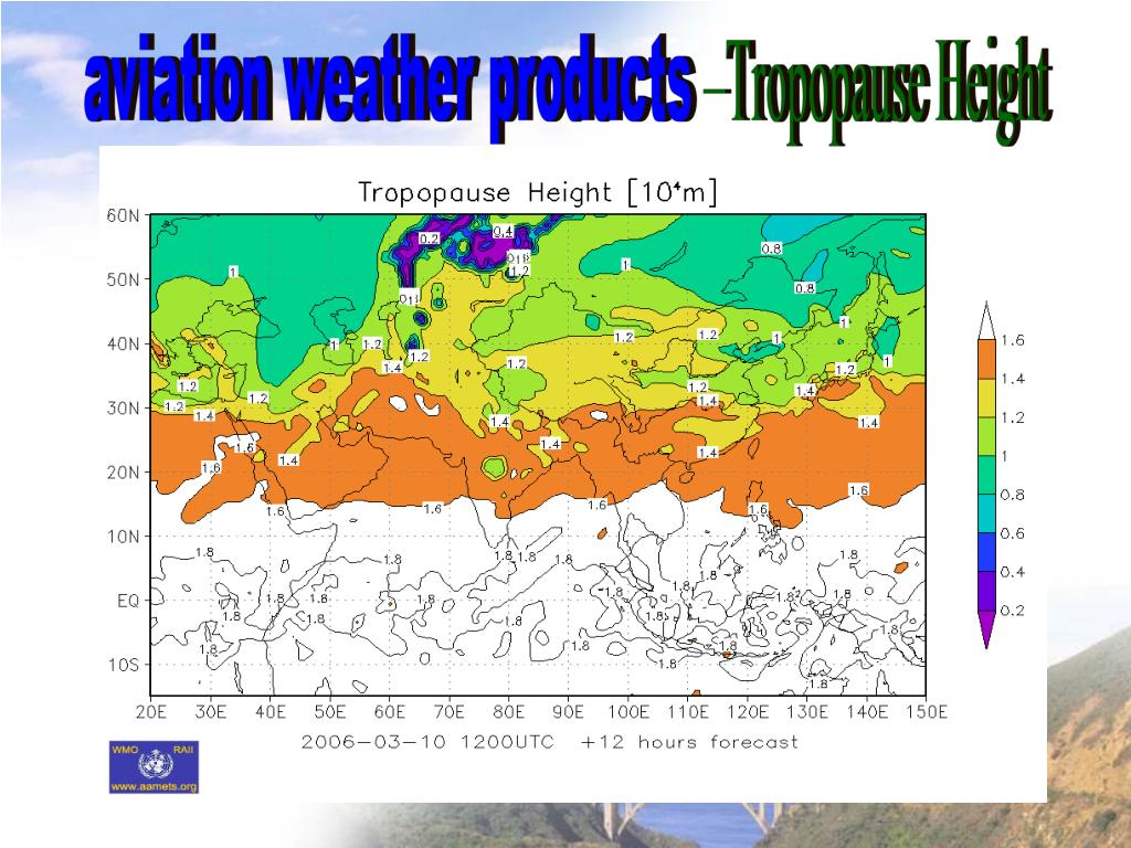 PPT - A brief introduction of aviation weather products in