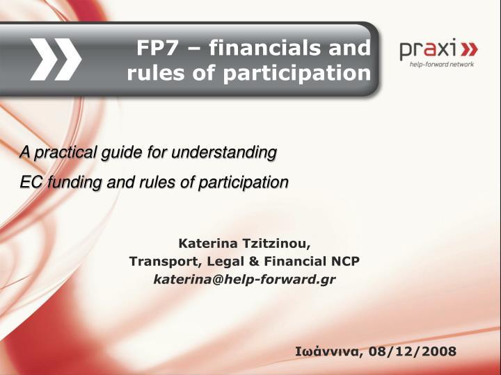 Katerina tzitzinou transport legal financial ncp katerina@help forward gr 08 12 2008