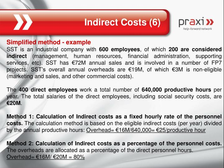 Indirect Costs (6)