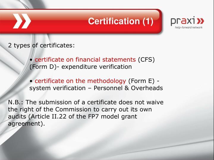 Certification (1)