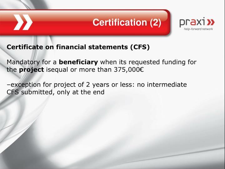 Certification (2)