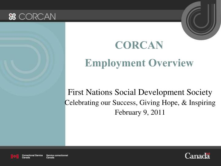 corcan employment overview