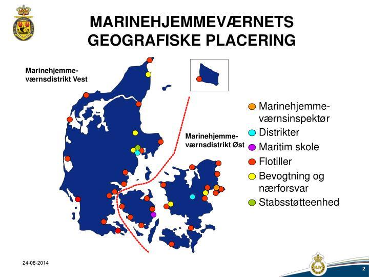 Marinehjemmev rnets geografiske placering