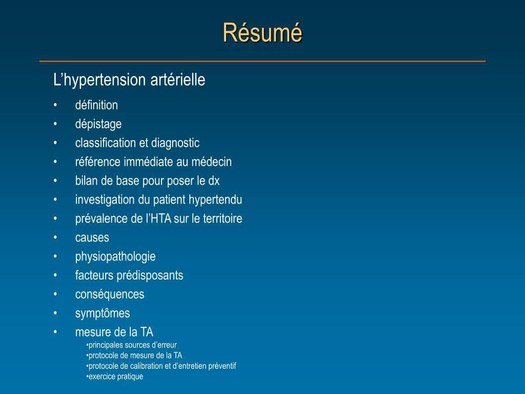 PPT - L'hypertension artérielle PowerPoint Presentation..