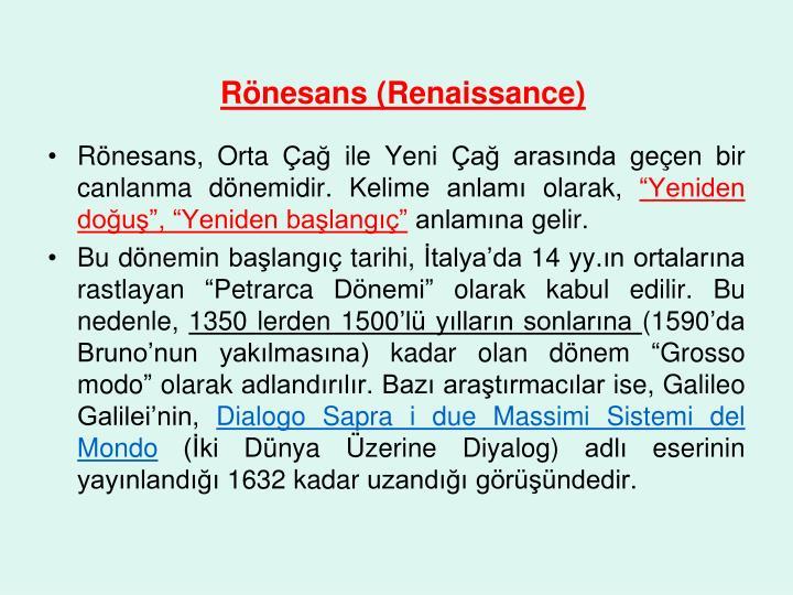 R nesans renaissance