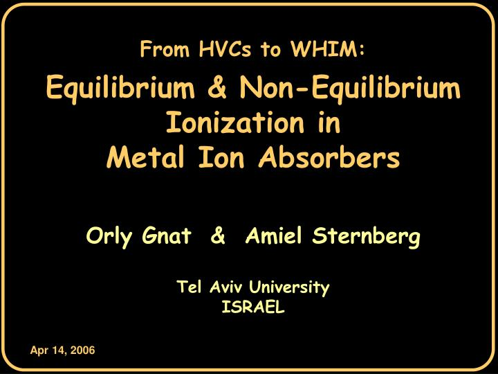 From HVCs to WHIM: