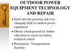 outdoor power equipment technology and repair