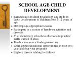 school age child development