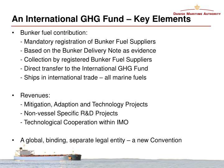 An International GHG Fund – Key Elements