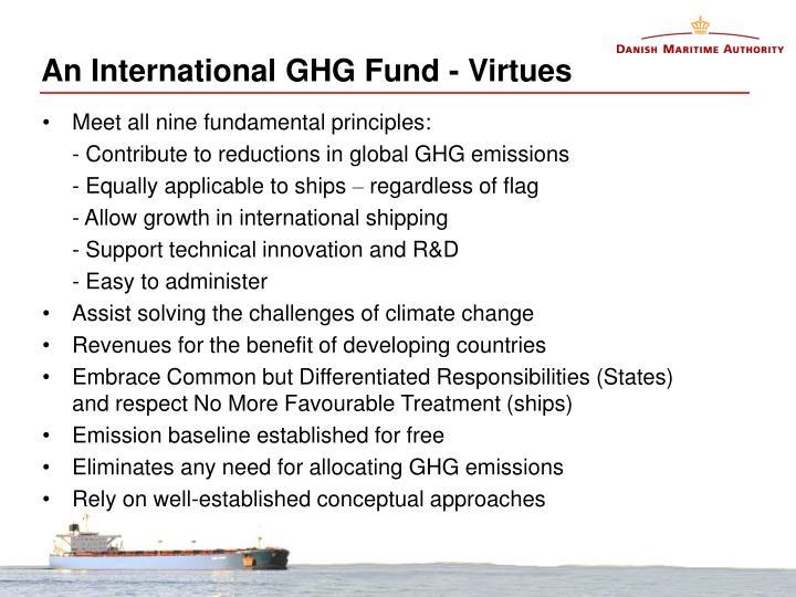 An International GHG Fund - Virtues