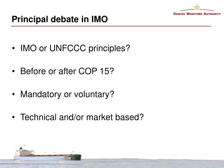Principal debate in IMO