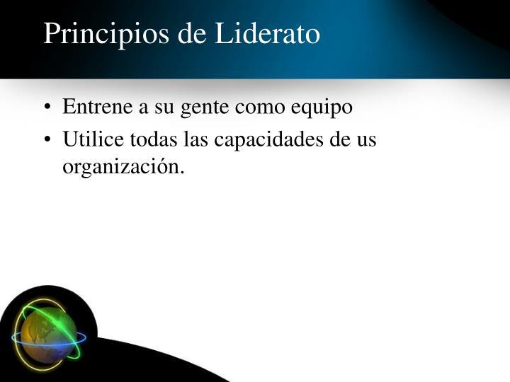 Principios de Liderato
