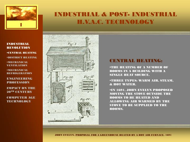 PPT - INDUSTRIAL & POST- INDUSTRIAL H V A C  TECHNOLOGY