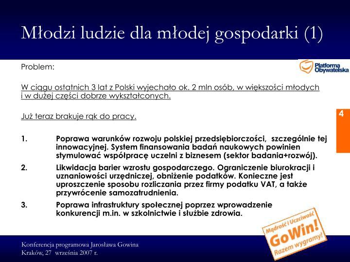 Młodzi ludzie dla młodej gospodarki (1)