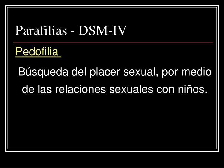Parafilias - DSM-IV