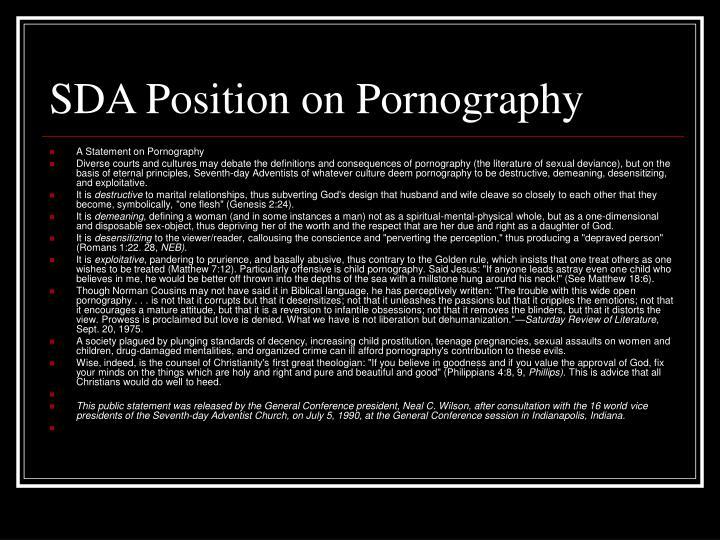 SDA Position on Pornography