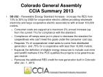 colorado general assembly ccia summary 2013