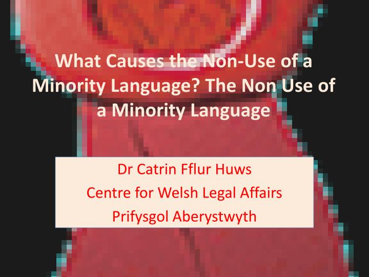 What causes the non use of a minority language the non use of a minority language