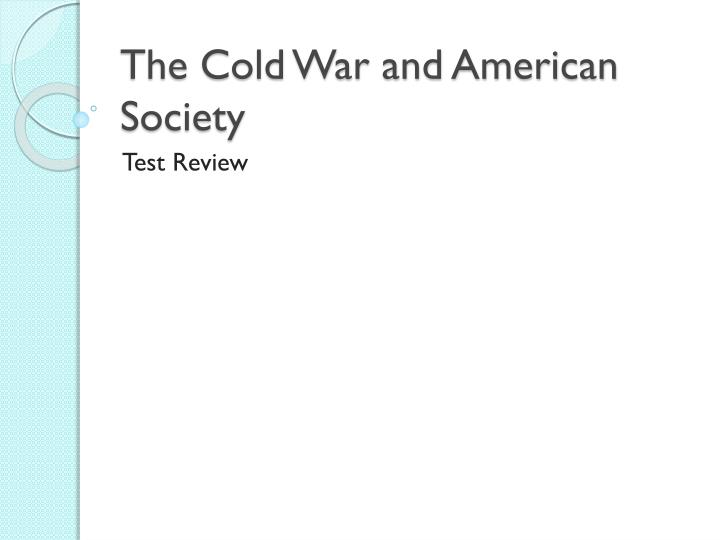 the cold war and american society n.
