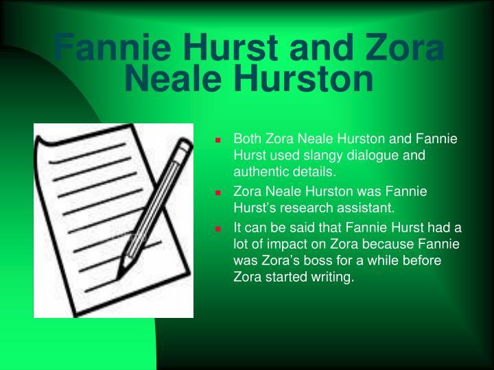 Fannie Hurst and Zora Neale Hurston